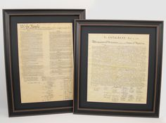Set of Two: Constitution and Declaration of Independence