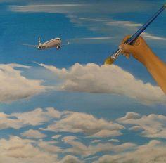 Pilven piirtäjä, 61x65cm