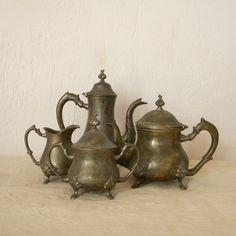 Vintage teapots and pitchers