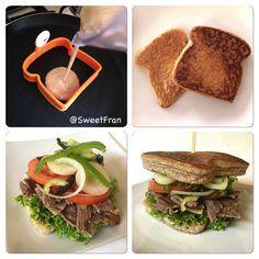 """""""Lo que les debía! Sandwich saludable. Como no amar los sandwich? Bueno aca hice mi versión rápida con pan al sartén. Ingredientes: Para el pan -3 claras…"""""""