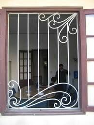 Now, these are nice window bars Steel Grill Design, Grill Gate Design, Door Gate Design, Front Door Design, Railing Design, Window Grill Design Modern, Window Design, Iron Windows, Iron Doors