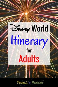 There's a lot to do at Disney World for adults, and you want to get the most for your money, and have the best experience possible.  So it can be overwhelming to even begin thinking about how to sort through all the information, especially at a place like Disney World where there are 4 theme parks, and endless entertainment, dining and hotel options to choose from.