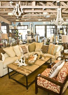 Look for pattern on chair in beach colors for large pillows | Tuvalu Home Store Laguna Beach, CA