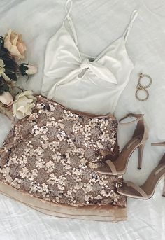 Turn heads in rose gold sequins!