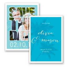 Paradise Calling - Guava - Photo Save the Date Card, Destination at Invitations By David's Bridal