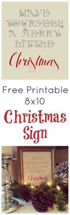Free Printables 8x10 Christmas Sign