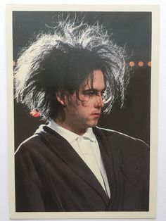 Robert Smith ~1985, most certainly from a French TV show 'Les Enfants du Rock' (postcard from my private collection)