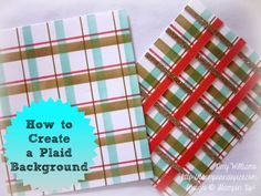 How to Create a Plaid Background, stamping, tutorial, Stampin' Up Decorative Masks Stamp Pad, Photo Tutorial, Craft Tutorials, Stampin Up, Masks, Diy Crafts, Plaid, Create, Tips