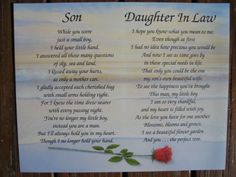 Happy Birthday Daughter In Law Quotes. QuotesGram Happy Birthday Daughter In Law Quotes. Daughter In Law Quotes, Birthday Daughter In Law, Daughter In Law Gifts, Son In Law, Son Quotes, Mother Quotes, To My Daughter, Famous Quotes, Qoutes