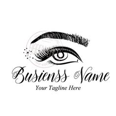 DIGITAL Custom logo design , black lash logo, eye lash beauty logo, microblading brow logo, black lashes logo design, design lashes brow