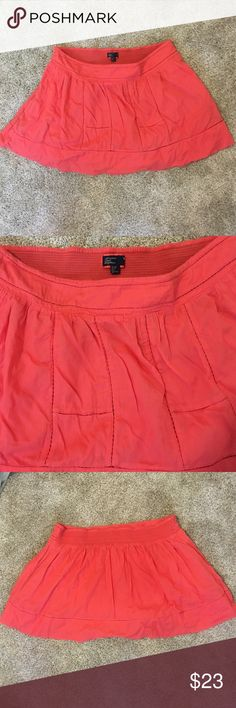 Coral skirt from AE Love this coral/orange colored skirt from American Eagle. Pretty sure I never wore it and now it's too big... Awesome for summer with a white top or even as a cover up for the beach! Double layered so not see through American Eagle Outfitters Skirts