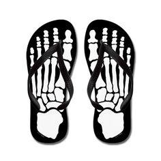 Skeleton Feet Flip Flops - Secret Santa Gift Ideas (CafePress.com)