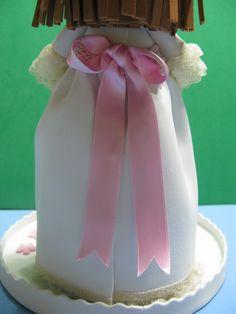 Lazo rosa en espalda