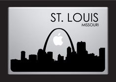 St. Louis Skyline Macbook Decal With Writing / Macbook Sticker / Laptop Sticker - 4. $9.99, via Etsy.