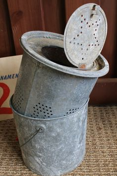 Vintage galvanized minnow bucket - potential wine chiller