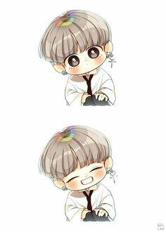 Taehyung fan art bts fan art in 2019 bts chibi bts t Vkook Fanart, Fanart Bts, Taehyung Fanart, Bts Taehyung, Bts Chibi, Anime Chibi, Anime Naruto, Bts Kawaii, Kawaii Anime
