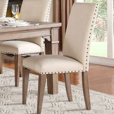 Homelegance Mill Valley Side Chair (Set of Upholstered Dining Chairs, Dining Room Chairs, Side Chairs, Dining Chair Set, Dining Table, Teak Furniture, Furniture Design, Dining Room Design, Decoration