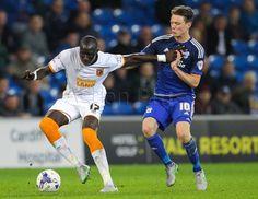 Hull City's Mohamed Diame hold off Cardiff City's Joe Mason.