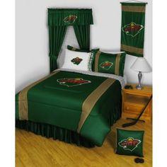 Minnesota Wild NHL 11pc Sidelines Full Comforter/Sheets Deluxe Bed Room Set