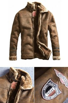 new concept 3ea81 1eb94 Ericdress Lapel Plain Thick Small Size Men s Coat Jacket With Patches Sewn,