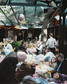 "Saatchi Art Artist Rolf Jansson; Painting, ""Cafe 2"" #art"