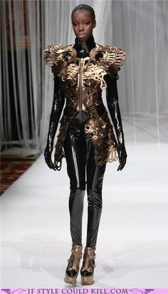 Steam punk on the fashion runway.
