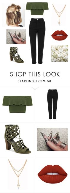 """""""Untitled #80"""" by vega-skouboe-lindberg on Polyvore featuring WearAll, Topshop, G by Guess, Lime Crime and OneSelf"""