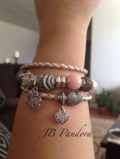 Thomas Sabo and Pandora champagne leather bracelet. 4/11/15