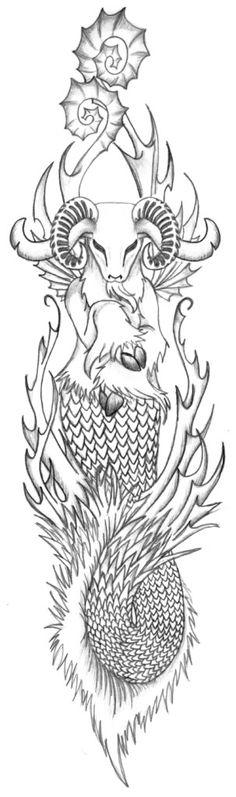 capricorn symbols   Zodiac Tattoo Symbols: Capricorn Tattoos