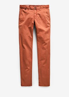 Slim-fit garment-dyed cotton chinos | H.E. by Mango