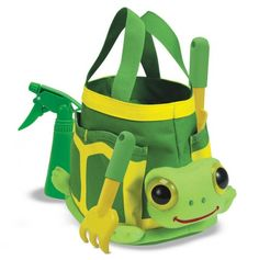Awww.. what a cute little #Turtle #Tote #Set - PERFECT for the grand-kids when helping in the garden.