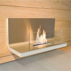 900 kamin radius flame wand weiss matt stahl