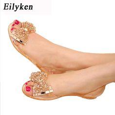 Casual sandalias 21 Eilyken Comprar mujer Bling Jelly DESCUENTO cristal Toe Peep zapatos de de sandalia verano 7 zapatos estilo 26 Bowtie Y15WZ
