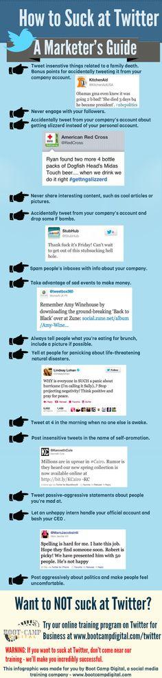 Come essere un pirla su Twitter: Gli Errori da Evitare [Infografica]