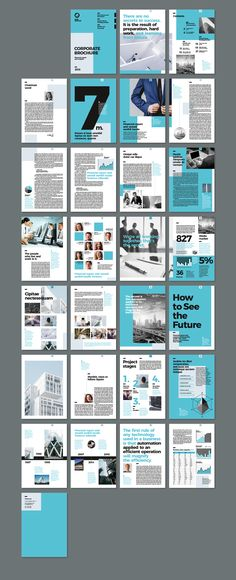 Modern and creative Corporate Brochure InDesign template. Could also be used as Annual Report. Print ready and uses free font. 2 sizes: A4 & US letter. Paragraph and Character Styles