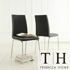 TRIBECCA HOME Matilda Black Retro Modern Dining Chair (Set of 2)   Overstock.com Shopping - Great Deals on Tribecca Home Dining Chairs