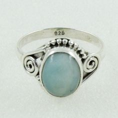 AMAZING DESIGN !! 925 STERLING SILVER JEWELLERY RING IN LARIMAR STONE #SilvexImagesIndiaPvtLtd #Statement