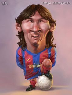 La caricatura de Lionel Messi