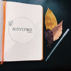 Bullet Journal: November cover… when leaves turn into snowflakes