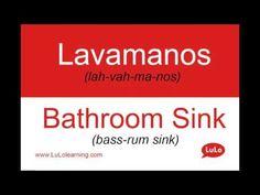 Lavamanos en Inglés = Bathroom Sink in Spanish | Casa Bilingüe = Bilingual Home by LuLo - YouTube