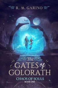 The Gates of Golorath designed by Mirella Santana. | TP: An amazing cover. I truly love every aspect of it. A strong illustration and great typography. A beautiful composition! ★