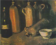Van Gogh - Stillleben mit vier Krügen, Flasche und weißen Napf - Still life paintings by Vincent van Gogh (Paris) - Wikipedia, the free encyclopedia