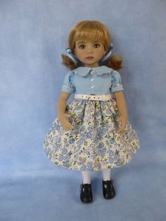 Retro 1950's Dress for Effner Little Darling Doll by Apple