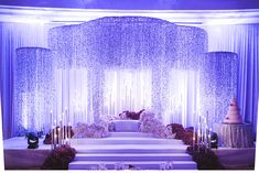 Purple Rain: Hilman and Hannah's Magical Wedding at the Grand Hyatt Wedding Stage Backdrop, Wedding Hall Decorations, Wedding Stage Design, Wedding Set Up, Magical Wedding, Purple Wedding, Wedding Ideas, Wedding Favors, Dream Wedding