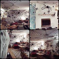 Halloween Cobwebs Spiders DIY Beef Netting