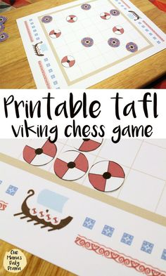My family likes to play games and if you do too, check out this printable tafl board game. Simple, yet complicated, like chess. Oh, and there are vikings! Vikings For Kids, Vikings Game, Vikings Ks2, Board Games For Kids, Games To Play, Dice Games, Family Game Night, Family Games, Therapy Activities
