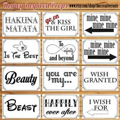Disney Inspired Photo Props Printable Large Funny Diy 24 Booth For Party Wedding Or Shoots
