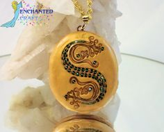 This hand sculpted recreation of Salazar Slytherins Pendant for is for lovers of Harry Potter and the Deathly Hallows! This locket has been