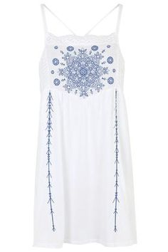 Embroidered Panel Sundress