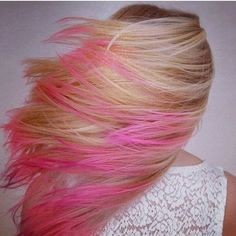 Pink highlights <3 I wish I was brave enough to have tried this when I was younger. So subtle and cute!
